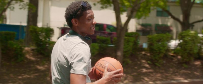 Spalding Basketball Held by Shane Paul McGhie in What Men Want (2019) Movie Product Placement
