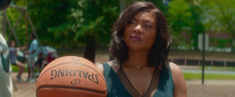 Spalding Basketball Held by Taraji P. Henson in What Men Want (2019) - Movie Product Placement