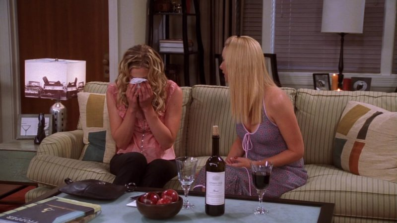 "Sterling Vineyards Wine in Friends Season 10 Episode 2 ""The One Where Ross Is Fine"" (2003) TV Show"