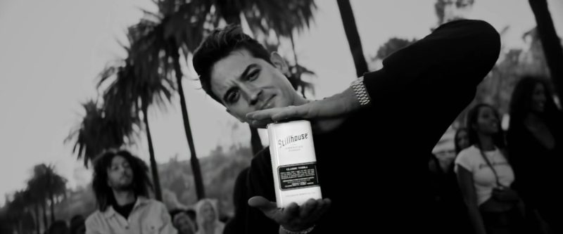 Stillhouse Whiskey Held by G-Eazy in West Coast (2019) Official Music Video Product Placement