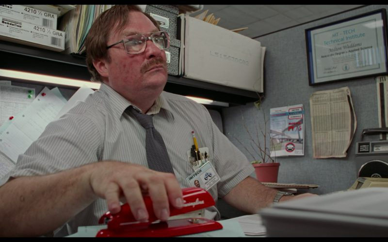 Swingline Red Stapler Used by Stephen Root in Office Space (3)