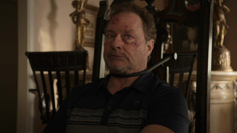 Travis Mathew M Logo Polo Shirt Worn by Stephen Root in Barry - Season 1, Episode 3, Chapter Three: Make the Unsafe Choice (2018) - TV Show Product Placement