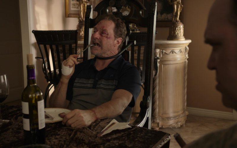 Travis Mathew M Logo Polo Shirt Worn by Stephen Root in Barry – Season 1, Episode 3 (4)