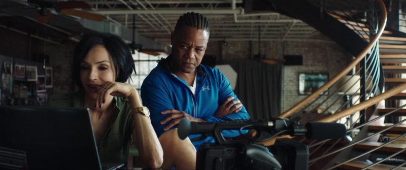 Under Armour Blue Jacket Worn by Cuba Gooding Jr. in Bayou Caviar (2018) - Movie Product Placement
