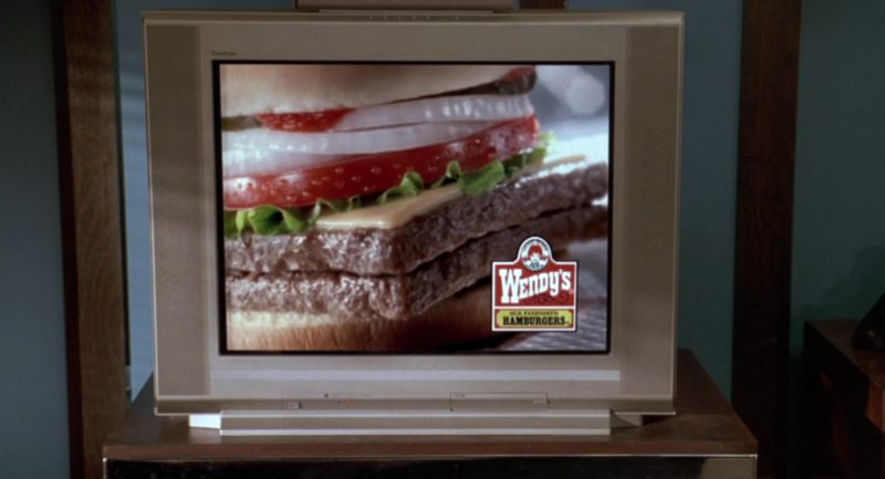 Wendy's Fast Food Restaurant TV Advertising in Garfield (2004) - Movie Product Placement