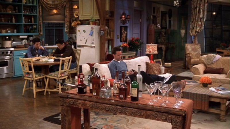 """Wild Turkey Bourbon in Friends Season 10 Episode 16 """"The One With Rachel's Going Away Party"""" (2004) - TV Show Product Placement"""