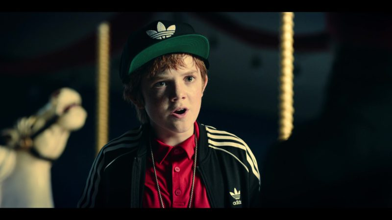 Adidas Black Track Jacket and Snapback Worn by Jack Gore in Rim of the World (2019) Movie Product Placement