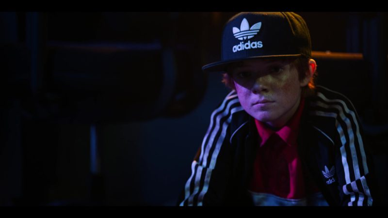 Adidas Black Track Jacket and Snapback Worn by Jack Gore in Rim of the World (2019) - Movie Product Placement