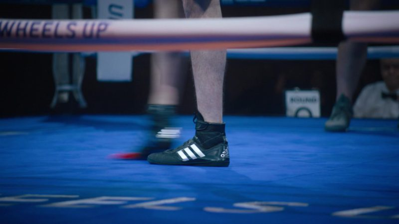 Adidas Boxing Shoes Worn by Kelly AuCoin (Dollar Bill Stearn) in Billions - Season 4, Episode 8, Fight Night (2019) TV Show Product Placement