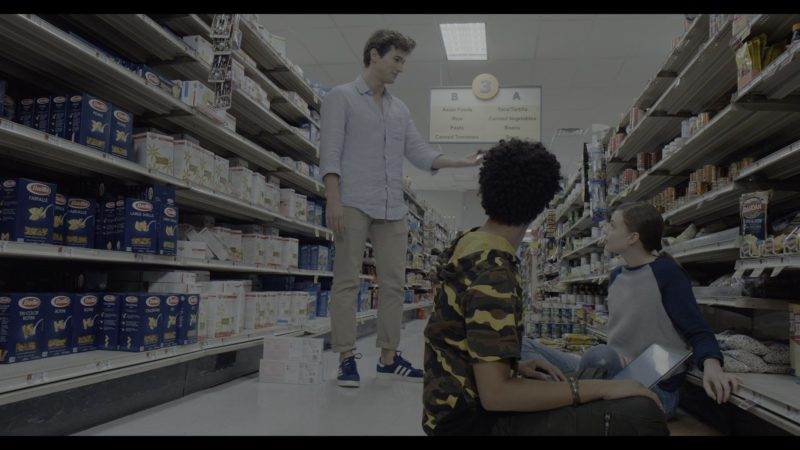 Adidas Shoes Worn by Alex Fitzalan and Barilla Pasta in The Society - Season 1, Episode 2, Our Town (2019) - TV Show Product Placement