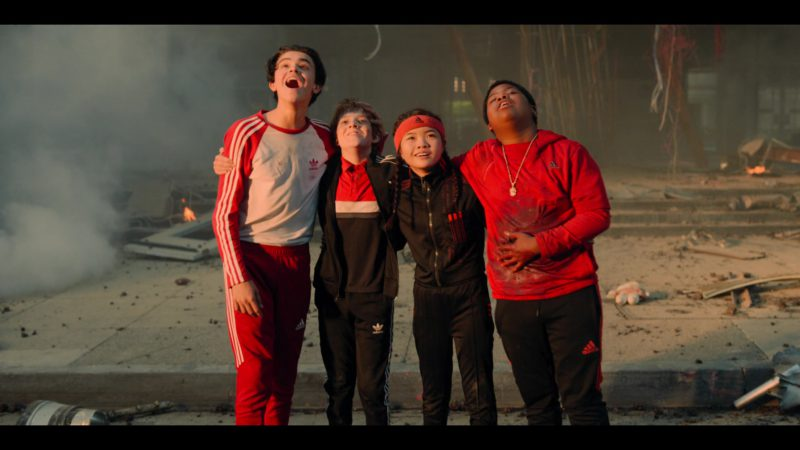 Adidas Sportswear Worn by Jack Gore, Benjamin Flores Jr., Miya Cech & Alessio Scalzotto in Rim of the World (2019) - Movie Product Placement