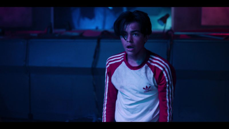 Adidas Sweatshirt Worn by Alessio Scalzotto in Rim of the World (2019) - Movie Product Placement