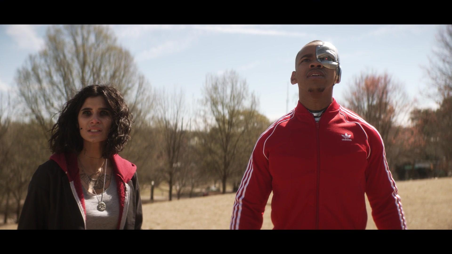 Adidas Tracksuit Red Worn By Joivan Wade Cyborg In Doom Patrol