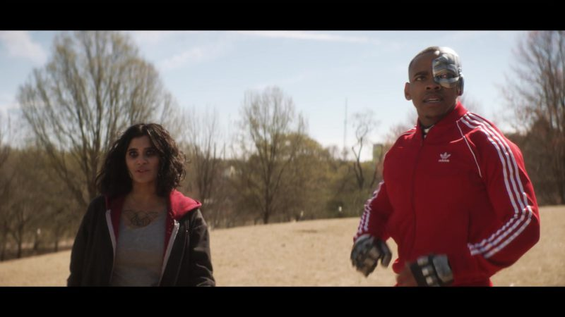 Adidas Tracksuit (Red) Worn by Joivan Wade (Cyborg) in Doom Patrol - Season 1, Episode 14, Penultimate Patrol (2019) - TV Show Product Placement