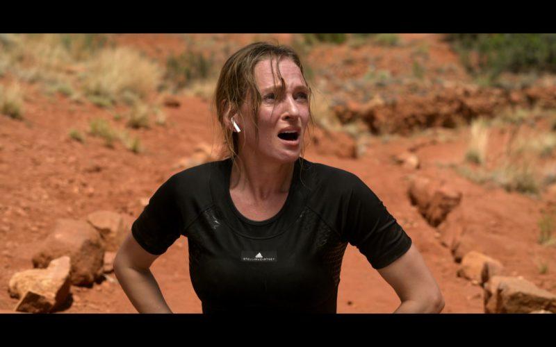 Adidas x Stella McCartney Black Sports Top Worn by Uma Thurman in Chambers (8)
