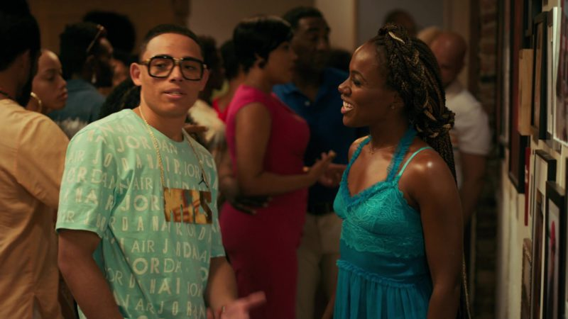 Air Jordan T-Shirt Worn by Anthony Ramos in She's Gotta Have It - Season 2, Episode 9, #IAmYourMirror (2019) TV Show Product Placement