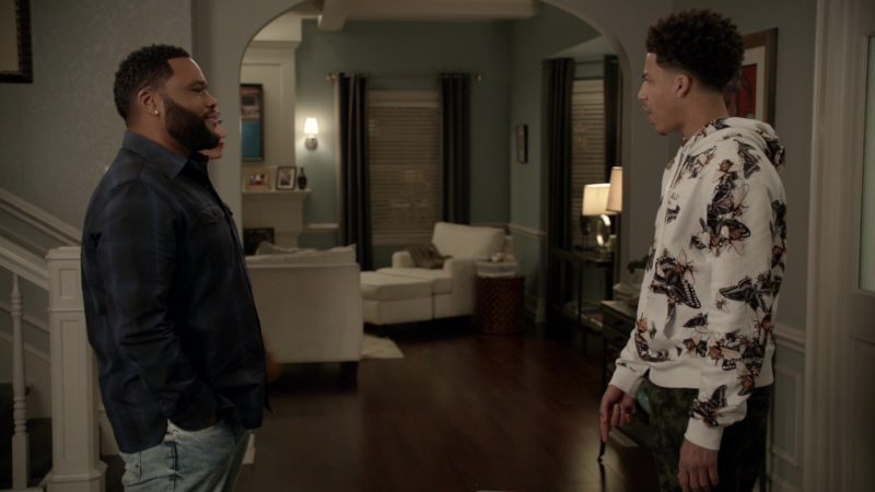 Akoo x Alie Float Hoodie (Bleached White) Worn by Marcus Scribner in Black-ish - Season 5, Episode 23, Relatively Grown Man (2019) - TV Show Product Placement