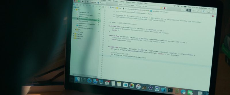 Apple MacBook Laptop (Rose Gold)  Used by Haley Lu Richardson in Five Feet Apart (2019) - Movie Product Placement