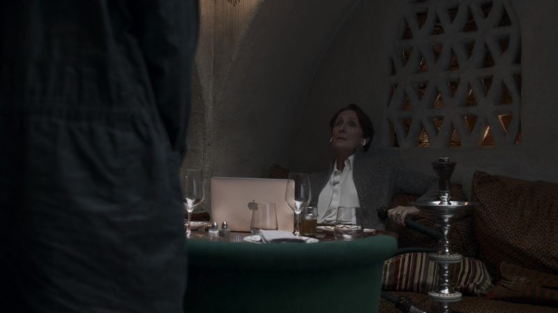 Apple MacBook Laptop Used by Fiona Shaw in Killing Eve - Season 2, Episode 6, I Hope You Like Missionary! (2019) - TV Show Product Placement