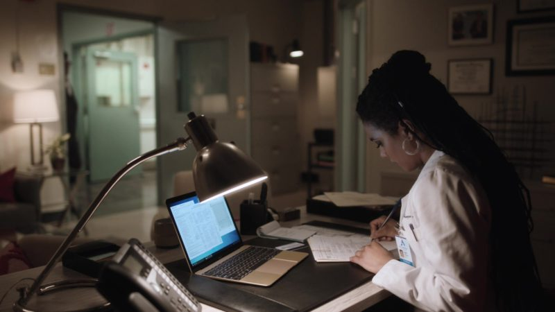 Apple MacBook Laptop Used by Freema Agyeman in New Amsterdam - Season 1, Episode 21, This Is Not the End (2019) - TV Show Product Placement