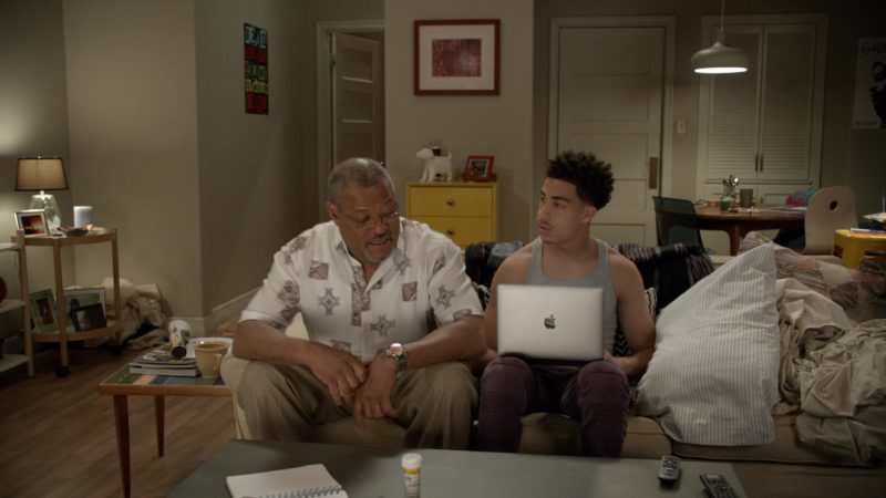 Apple MacBook Laptop Used by Marcus Scribner in Black-ish - Season 5, Episode 23, Relatively Grown Man (2019) - TV Show Product Placement