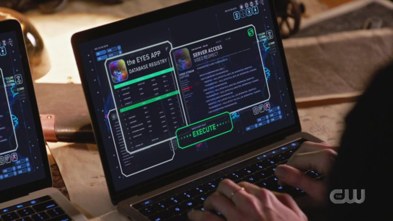 Apple MacBook Laptop Used by Tala Ashe in DC's Legends Of Tomorrow - Season 4, Episode 16, Hey, World! (2019) - TV Show Product Placement