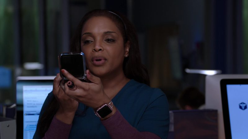 Apple Watch Worn by Marlyne Barrett in Chicago Med - Season 4, Episode 21, Forever Hold Your Peace (2019) TV Show Product Placement
