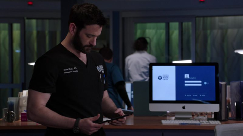 Apple iMac All-In-One Computer Used by Colin Donnell in Chicago Med - Season 4, Episode 21, Forever Hold Your Peace (2019) - TV Show Product Placement