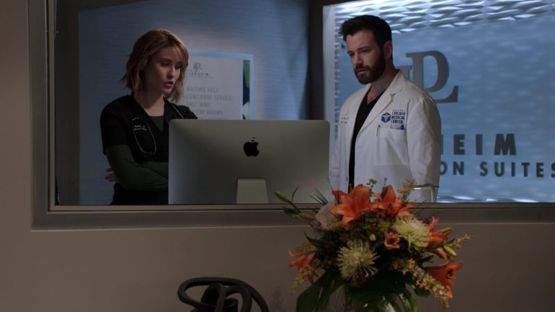 Apple iMac Computer Used by Colin Donnell in Chicago Med - Season 4, Episode 20, More Harm Than Good (2019) - TV Show Product Placement