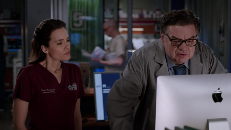 Apple iMac Computer Used by Oliver Platt in Chicago Med - Season 4, Episode 20, More Harm Than Good (2019) - TV Show Product Placement
