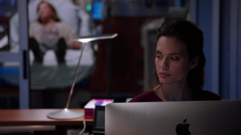 Apple iMac Computer Used by Torrey DeVitto in Chicago Med - Season 4, Episode 20, More Harm Than Good (2019) TV Show Product Placement