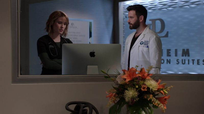 Apple iMac Computers in Chicago Med - Season 4, Episode 20, More Harm Than Good (2019) TV Show Product Placement