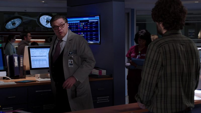 Apple iMac Desktop Computer Used by Oliver Platt in Chicago Med - Season 4, Episode 21, Forever Hold Your Peace (2019) TV Show Product Placement
