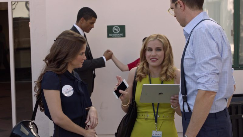 Apple iPad Tablet Used by Anna Chlumsky in Veep - Season 7 Episode 6, Oslo (2019) - TV Show Product Placement