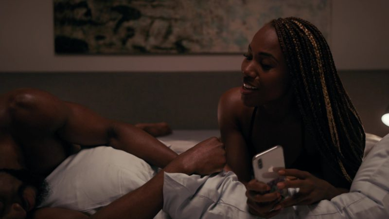Apple iPhone Smartphone Used by DeWanda Wise in She's Gotta Have It - Season 2, Episode 5, #SuperFunkyCaliFragiSexy (2019) - TV Show Product Placement