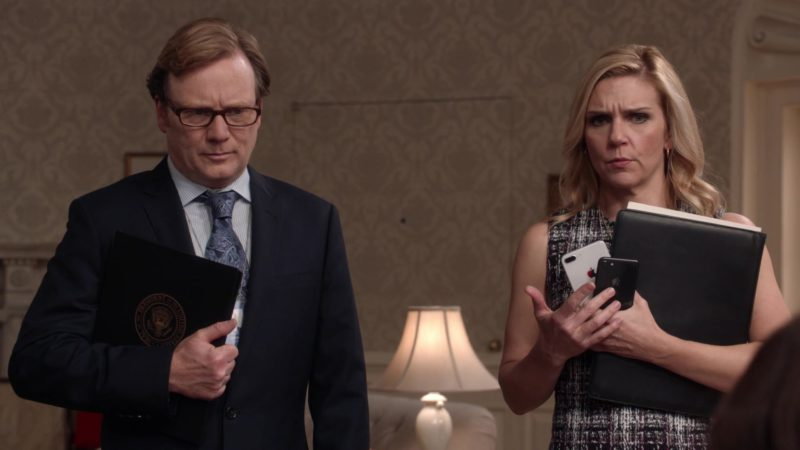 Apple iPhone Smartphones Held by Rhea Seehorn in Veep - Season 7, Episode 7 (2019) TV Show Product Placement