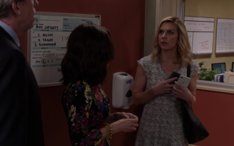 Apple iPhone Used by Rhea Seehorn and Purell Hand Sanitizer in Veep