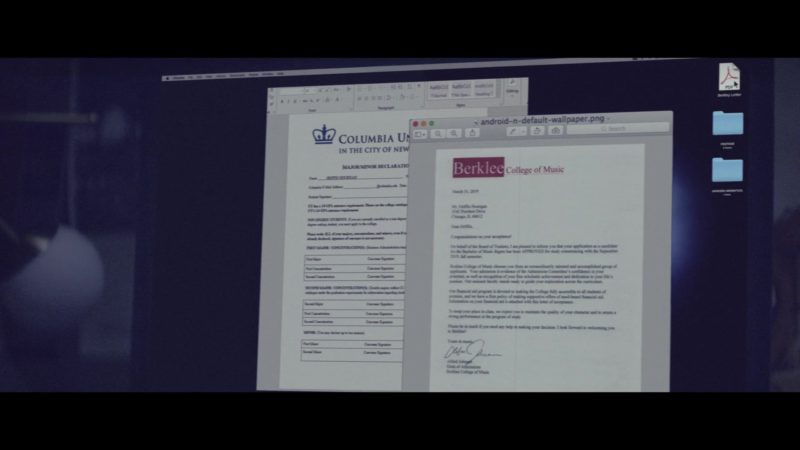 Berklee College of Music Email/Letter in The Last Summer (2019) - Movie Product Placement