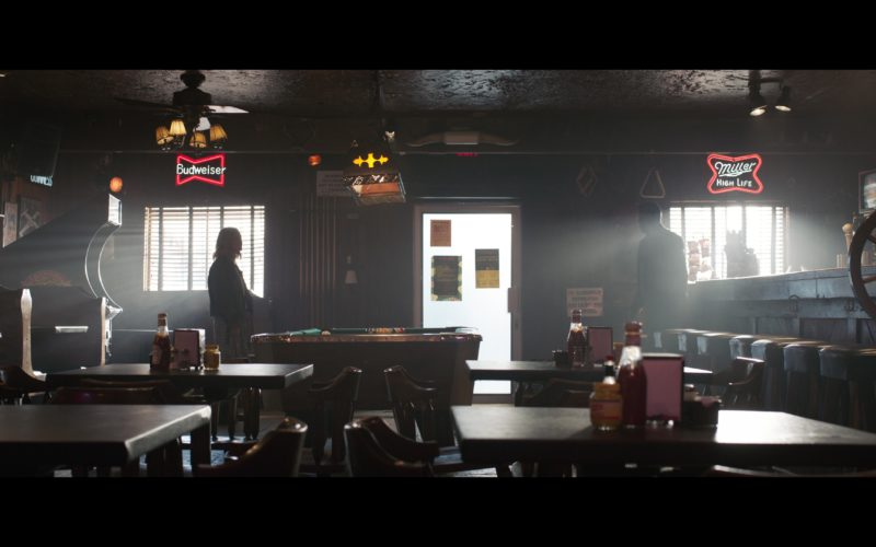 Budweiser and Miller High Life Beer Signs in Captain Marvel (1)