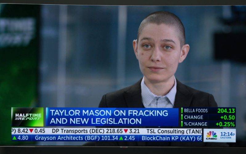 CNBC's Fast Money Halftime Report Starring Asia Kate Dillon (Taylor Mason) in Billions (1)