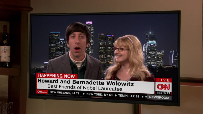 CNN TV Channel in The Big Bang Theory - Season 12, Episode 23, The Change Constant (2019) - TV Show Product Placement