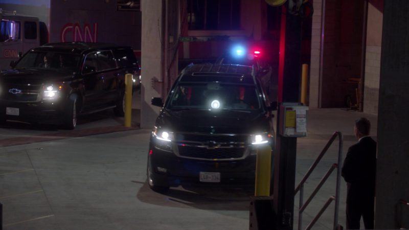 CNN TV and Chevrolet SUVs in Veep - Season 7, Episode 7 (2019) - TV Show Product Placement