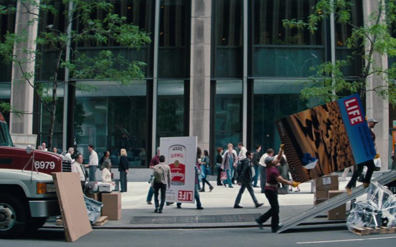 Campbell's Tomato Soup and Life Posters in The Secret Life of Walter Mitty (1)