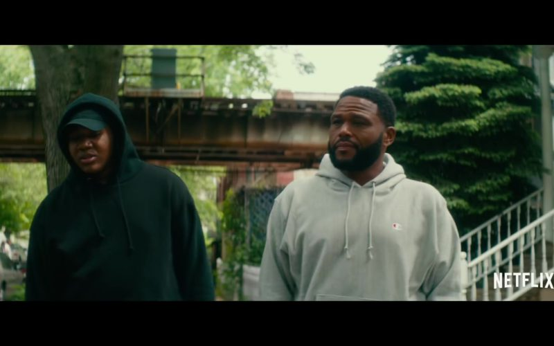 Champion Grey Hoodie Worn by Anthony Anderson in Beats (1)