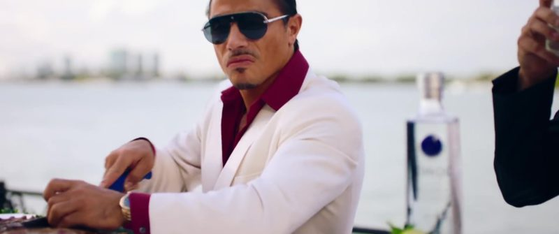 "Christian Dior Dio(r)evolution Pilot Aviator Silver Frame Sunglasses Worn by Salt Bae in ""You Stay"" by DJ Khaled ft. Meek Mill, J Balvin, Lil Baby, Jeremih (2019) - Official Music Video Product Placement"