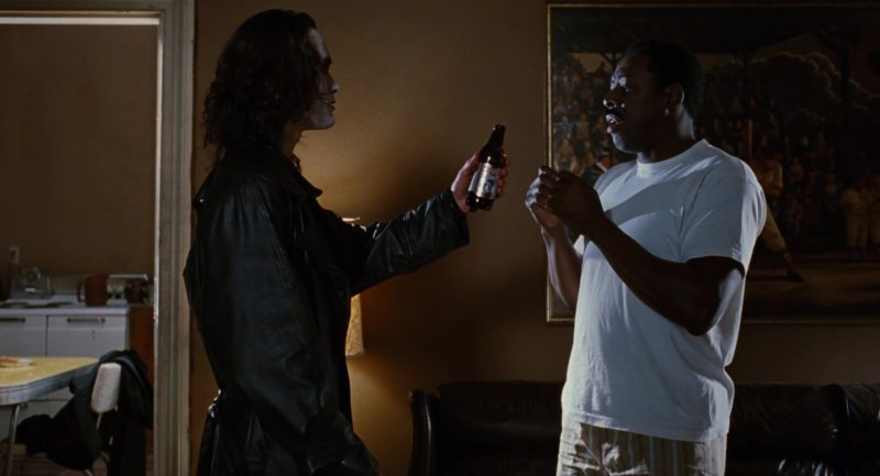 Coors Light Beer Bottle Held by Brandon Lee in The Crow (1994) Movie Product Placement