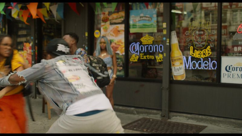 Corona and Modelo Beer Signs in See You Yesterday (2019) - Movie Product Placement