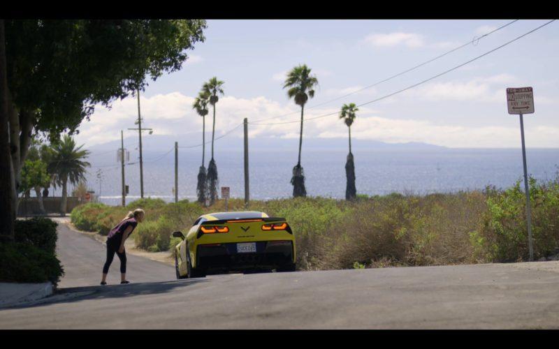 Corvette Stingray Yellow Sports Car in Dead to Me