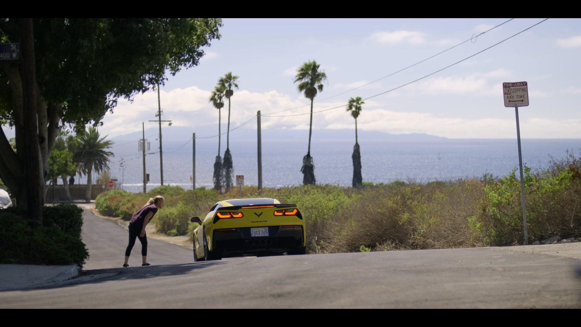 Corvette Stingray Yellow Sports Car in Dead to Me - Season 1
