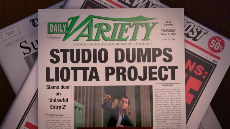 Daily Variety Newspaper in Bee Movie (2007) - Animation Movie Product Placement